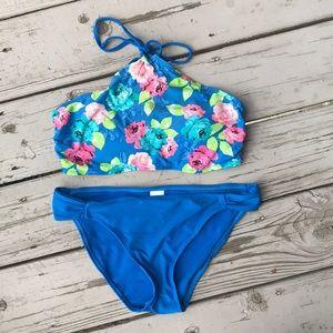 Floral Hi Neck Tank Bikini & Bottom Hula Honey